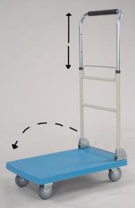 Plastic Platform Hand Truck with foldable and telescopic handle