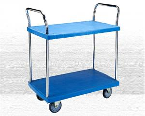 2 Shelf Plastic Trolley