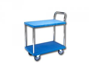 Galvanized Single Handle_Plastic Trolley