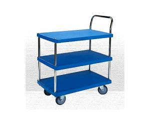 3 Shelf Plastic Trolley(PHL-423-1GS)