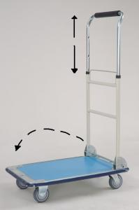 Galvanlzed Hand Truck with foldable and telescopic handle